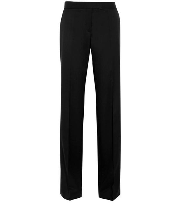 best black pants—Stella McCartney Jasmine Wool-Twill Wide-Leg Pants