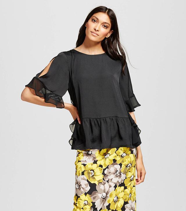 best ruffle shirt black