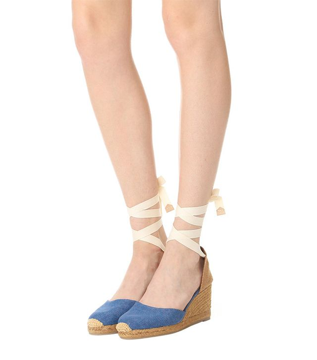 best espadrilles- Castaner Washed Canvas Wedge Espadrilles