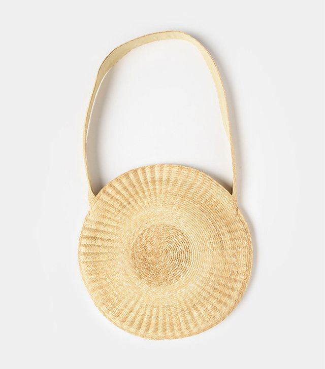 best straw bag- Samuji Circle Bag in Ocra