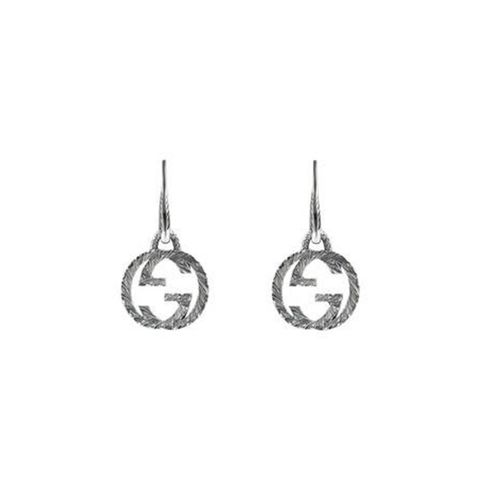Interlocking G Earrings in Silver