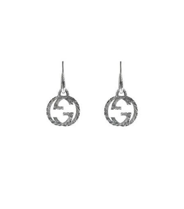 best statement silver jewelry—Gucci Interlocking G Earrings in Silver