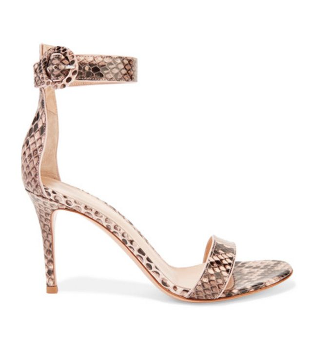 going-out shoes—Gianvito Rossi Portofino Python Sandals