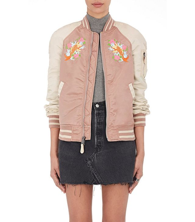 colorful bomber jacket