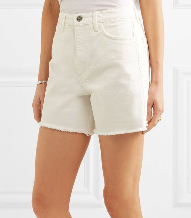 High-Waisted Cut-Off Denim Shorts