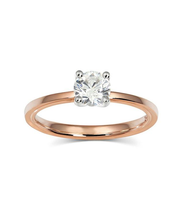 best rose gold solitaire ring