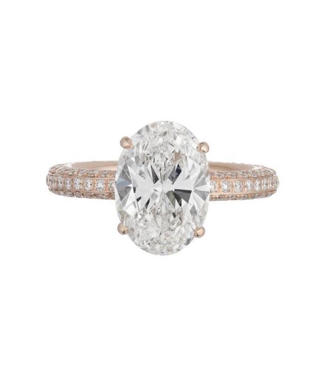 best rose gold engagement rings custom