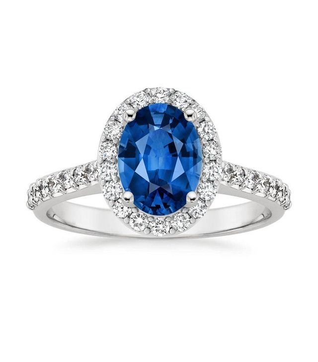 best sapphire halo engagement ring