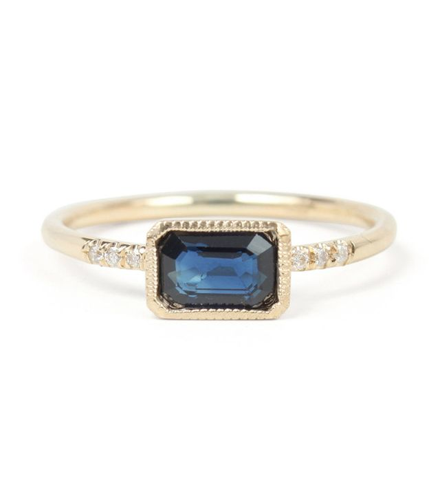 best sapphire engagement ring gold