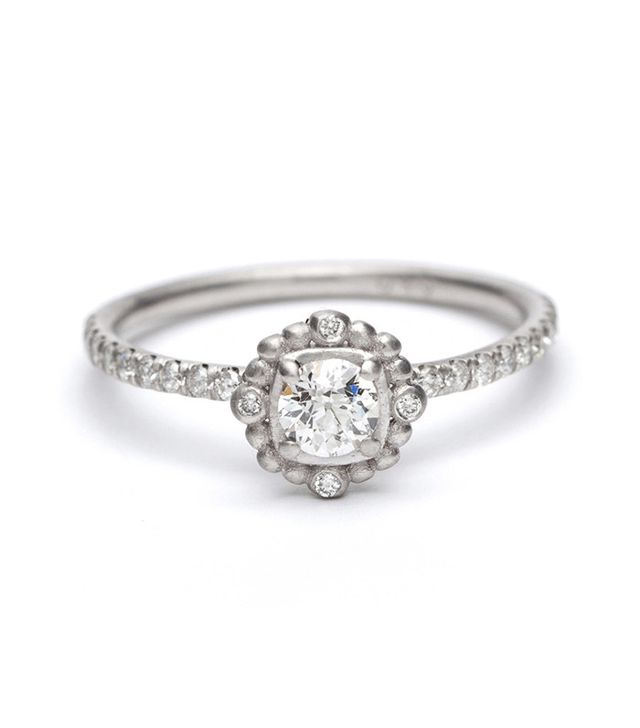 best cushion engagement ring with details