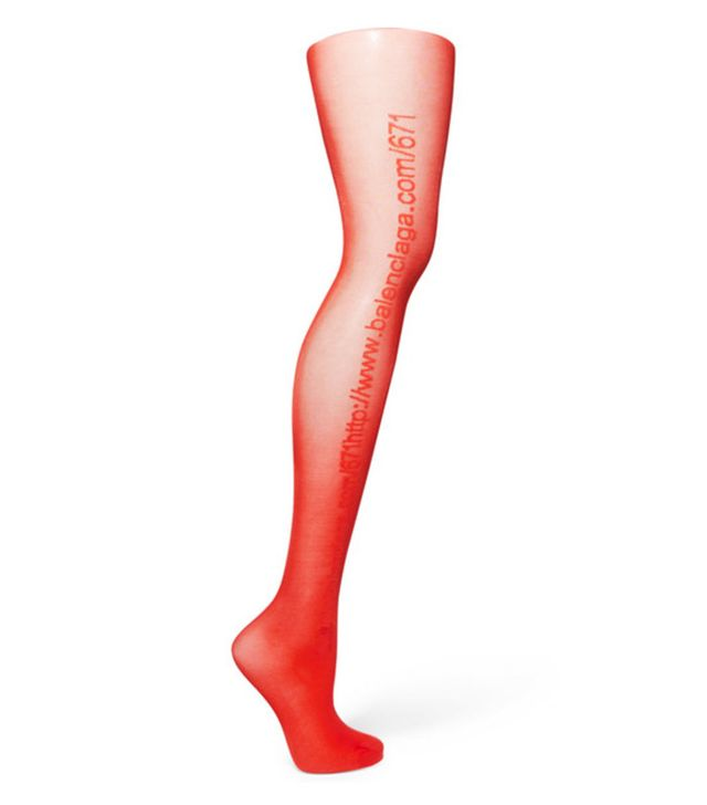 Coloured tights and sandals:Balenciaga tights