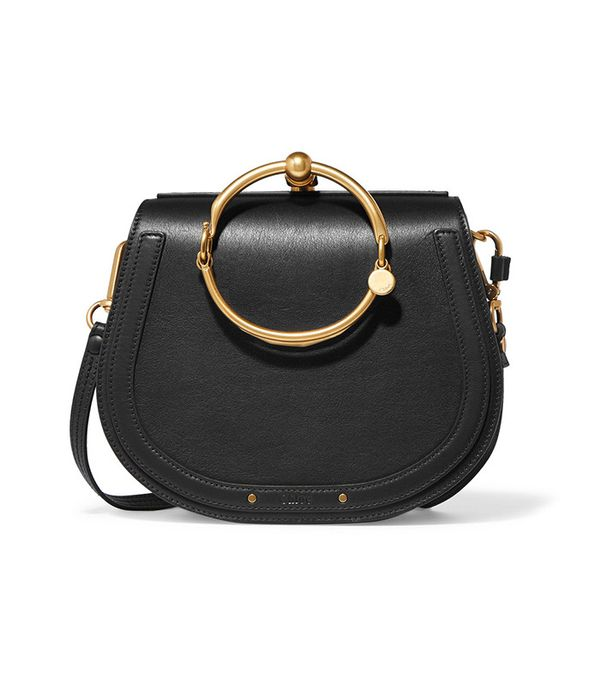 best saddle bags - Chloe Nile Bracelet Small Leather Shoulder Bag