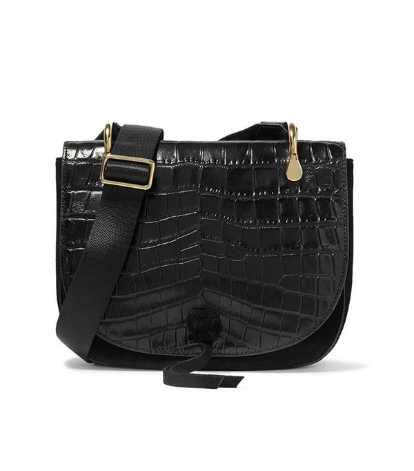best saddle bags - Elizabeth and James Zoe Saddle Croc-Effect Shoulder Bag