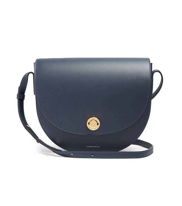 best saddle bags - Mansur Gabriel Saddle Leather Shoulder Bag
