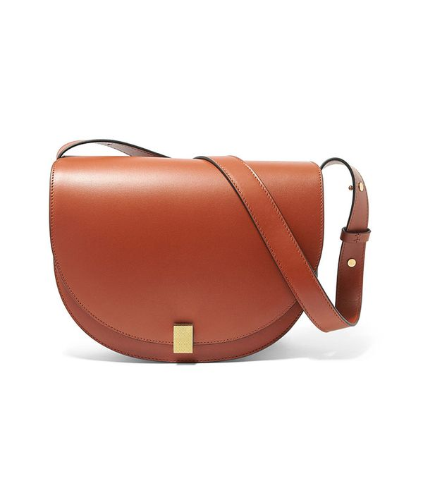 best saddle bags - Victoria Beckham Half Moon Leather Shoulder Bag