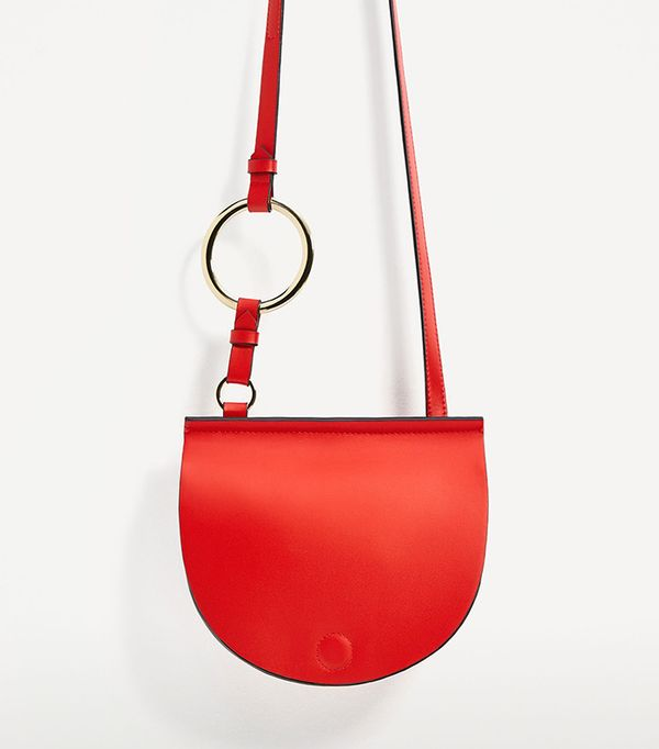 best saddle  bag - Zara Join Life Oval Crossbody With Ring Detail