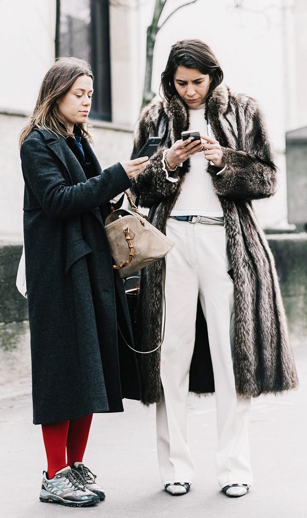 2017 sneaker trend - long fur coat