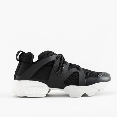 Contrast Materials Sneakers