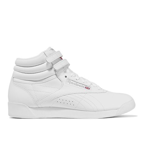 Freestyle Leather High-Top Sneakers