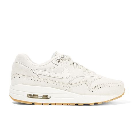 Air Max 1 Sherpa Suede and Shearling Sneakers