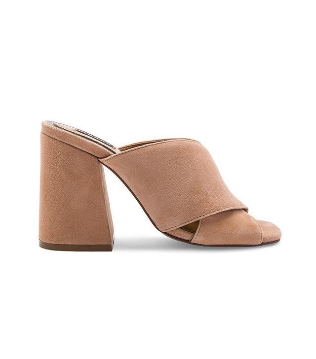 beige block heel