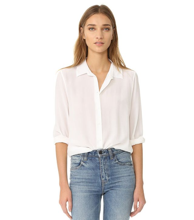 white button down for women