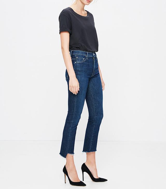 best step hem jeans- Mother Insider Crop Step Fray Jeans