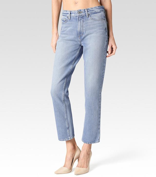 best vintage-wash jeans- Paige High Rise Sarah Straight Jeans
