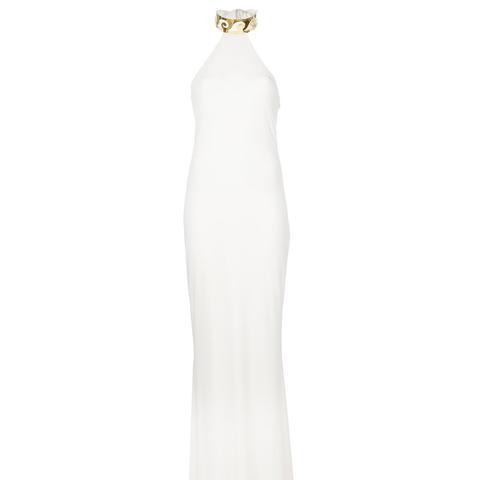 Choker Collar Long Gown
