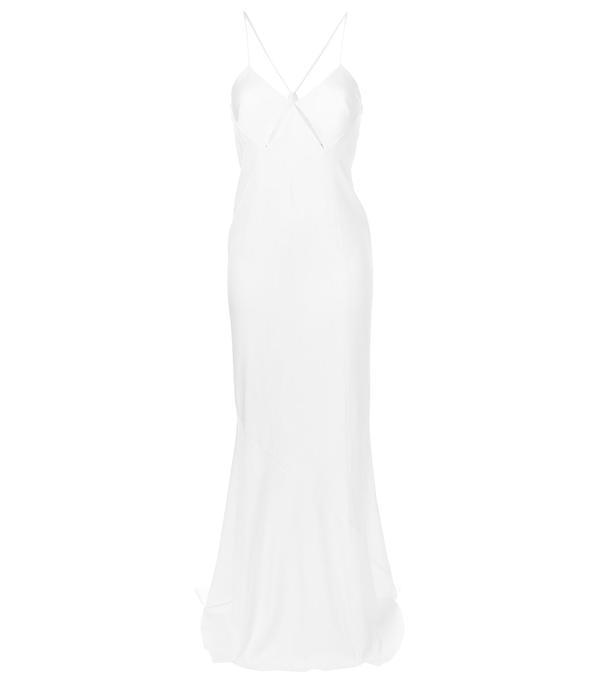 slit detail gown