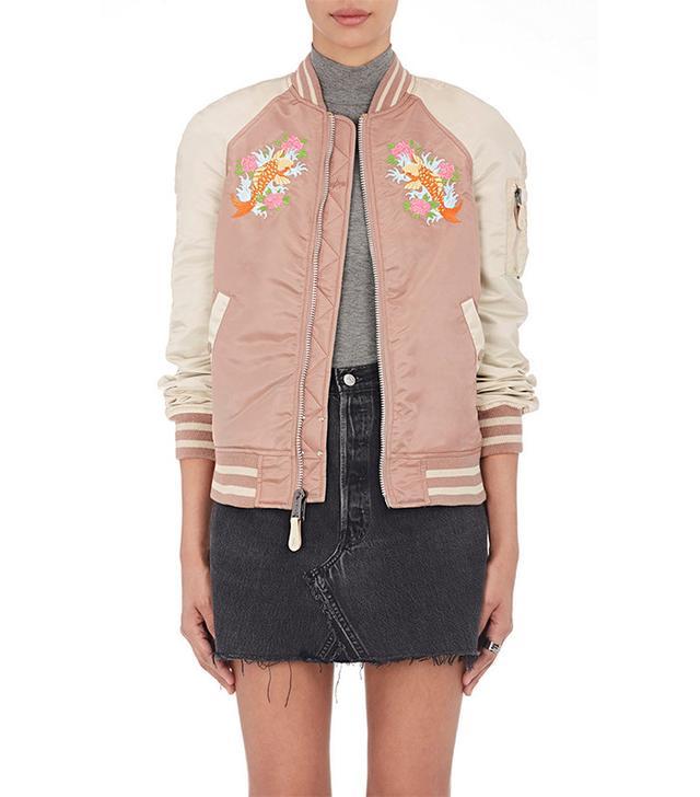 colorful bomber jacket