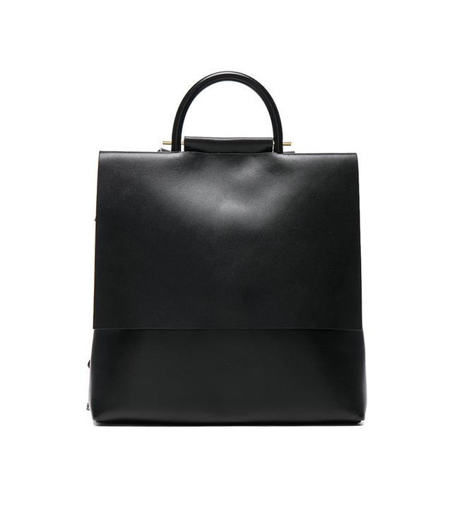 sleek black backpack