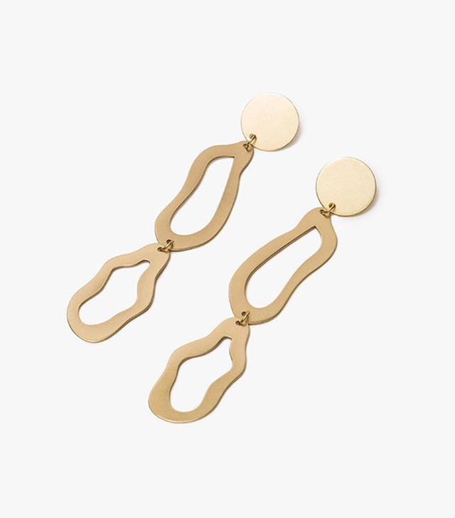 Modern Weaving Abstract Stacked Loop Earrings