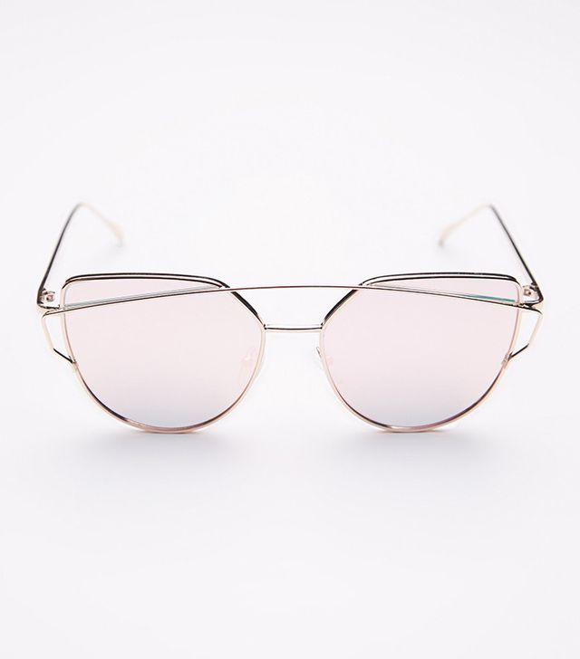 affordable rose gold sunglasses Free People Forget Me Not Aviator