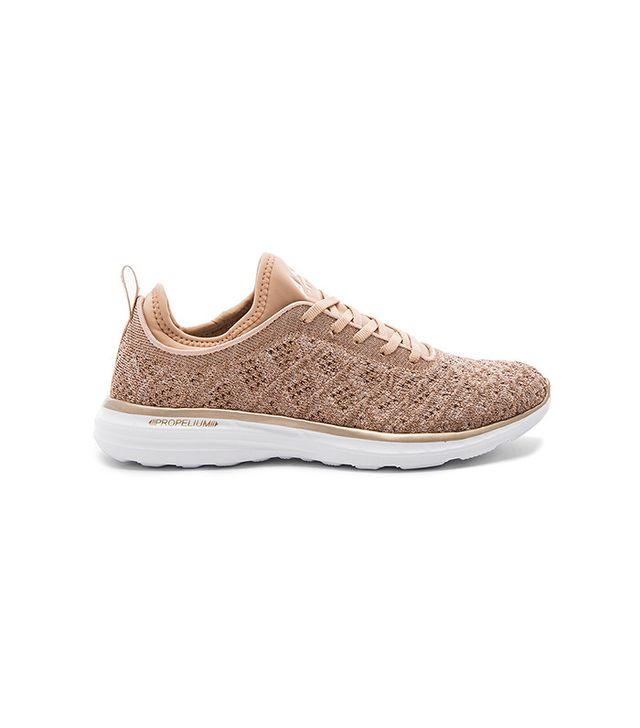 best rose gold sneakers- APL TechLoom Phantom Rose Gold Performance Sneakers