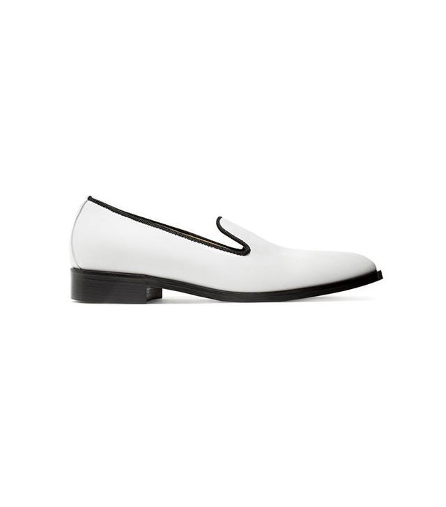 best white loafers- everlane Modern Smoking Loafer