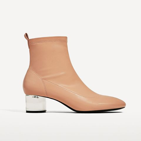 Ankle Boots With Methacrylate Heel