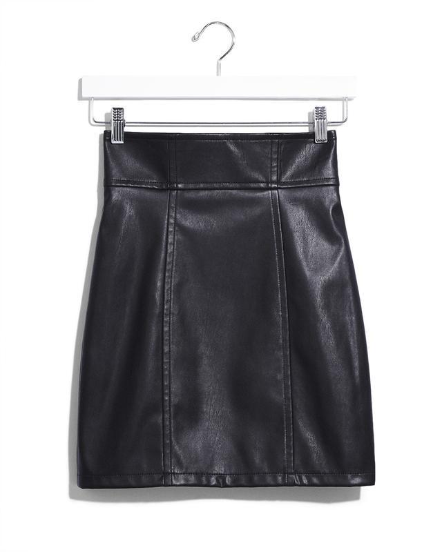Express Karlie Kloss High Waisted (Minus The) Leather Mini Skirt