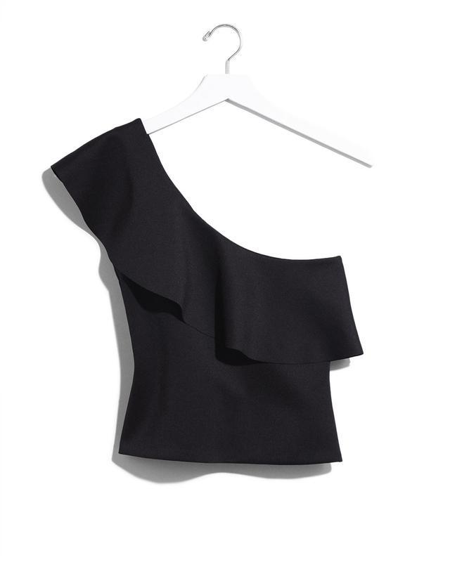 Express Karlie Kloss Ruffle One Shoulder Top