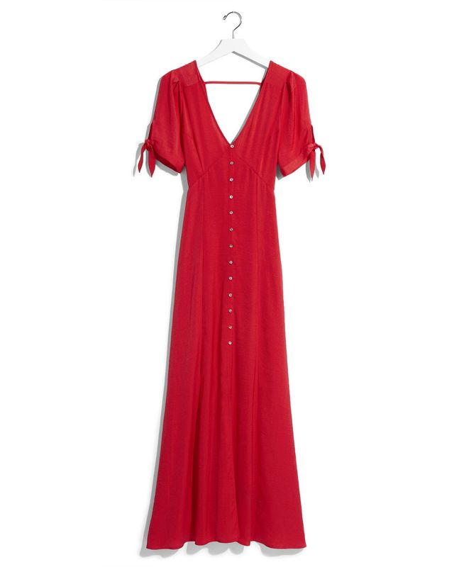 Express Karlie Kloss Solid Maxi Dress