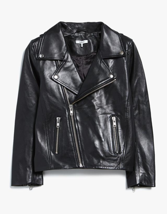 edgy leather jacket—Ganni Passion Biker Jacket