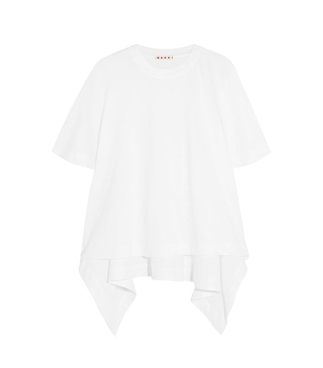 best white shirt—Marni Asymmetric Cotton T-Shirt