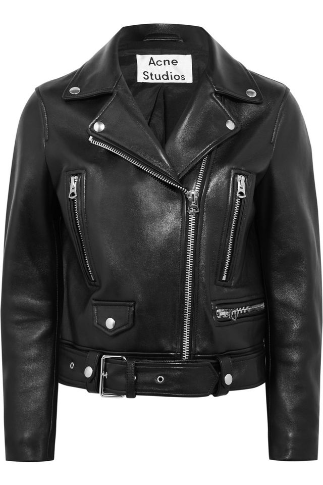 black biker jacket - Acne Studios Leather Biker Jacket