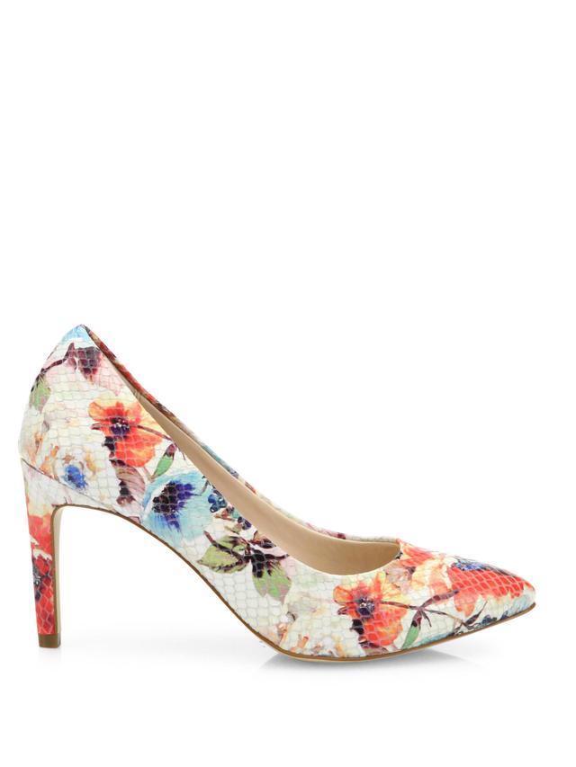 floral print pumps - Cole Haan Amelia Grand Floral-Print Leather Pumps