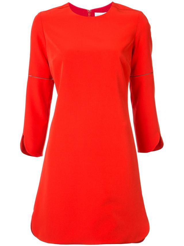 red shift dress - Partow Round-Hem Shift Dress