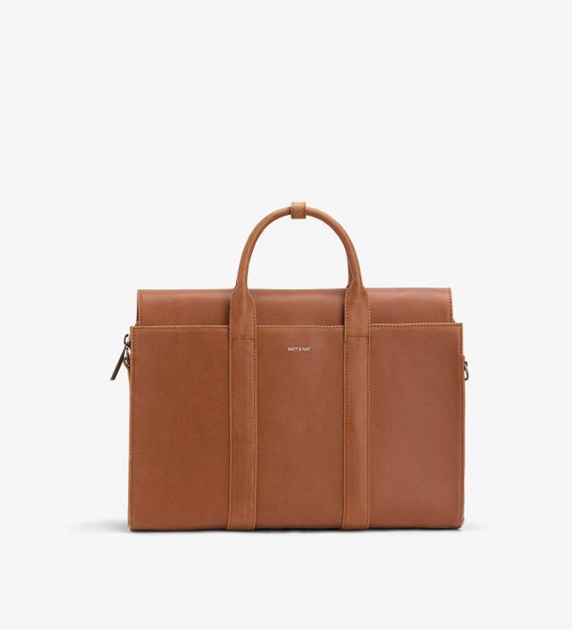 brown briefcase satchel bag - Matt & Nat Parallel Satchel