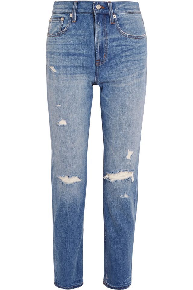 distressed straight leg jeans - Madewell The Perfect Vintage Straight-Leg Jeans