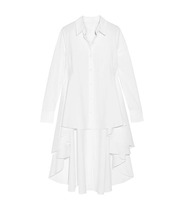 Co Asymmetric Cotton-Poplin Shirt