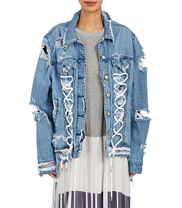 Public School Gwenda Distressed Denim Jacket