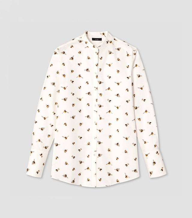 best button-down shirt—Victoria Beckham for Target Bee Print Button-Down Top